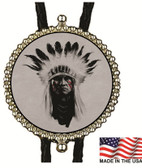 Indian Chief Bolo Tie