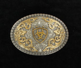 Oval Filigree and Scroll Design Ariat Logo Buckle by M&F