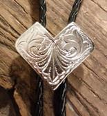 Silver Shield Bolo Tie