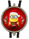 Minion Christmas Bolo Tie