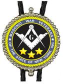 Masonic War Veterans NY Bolo Tie