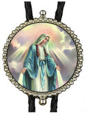 Our Lady Miraculous Medal Image Bolo Tie