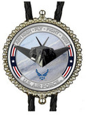 U.S.  Air Force Stealth Fighter Bolo Tie