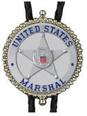 United States Marshall Image Badge Bolo Tie