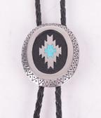Aztec Antique Silver Classic Bolo Tie