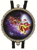 Christmas Santa & Reindeer Moon Lit Sky