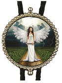 Woman Angel Walking On Earth Bolo Tie