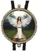 Woman Angel Walking On Earth Bolo Tie