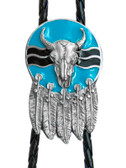 Dream Catcher, Steer and Feathers Bolo Tie