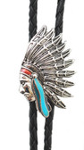 Indian Chief Bolo Tie Made in the USA