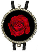 Red Rose Image Bolo Tie