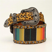 Angel Ranch Ladies Top Red Serape Belts, Multi Color - Medium