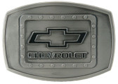 Officially Licensed - Chevrolet Logo Belt Buckle with Black Enamel