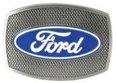 Officially Licensed Ford Logo Belt Buckle with Grill Pattern