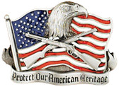 Protect Our American Heritage Belt Buckle 2
