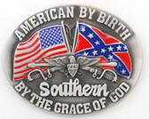 Southern By The Grace of God Oval Belt Buckle