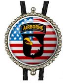 Patriotic Flag Airborne Logo Bolo Tie