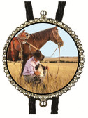 Photo Custom Made Round  Bolo Tie, Send your image to: theoldwestgallery@gmail.com