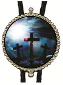 3 Crosses Resurrection Bolo Tie