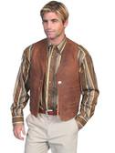 Scully Vintage Lamb Concho Vest w/Lapel