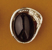 Scarf Slide Black Stone