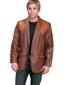 Scully  LAMB W/SADDLE OSTRICH TRIM JACKET MENS JACKETS