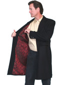 Scully All Wool Frock Coat With Dragon Pattern Satin Lining