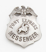 Silver Pony Express Badge 51402