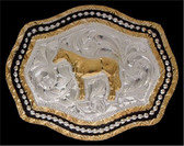 Silver Strike Horse Men's Buckle