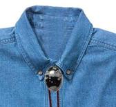 Snowflake Obsidian Oval Bolo Tie