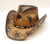 Straw Cowboy Hat/Ladies/Dark Brown
