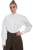 White ranch style cotton blouse