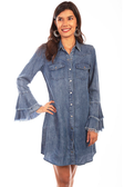 Western yoke shirt dress