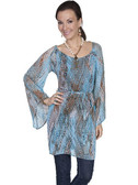 TEAL SCOOPBECK TUNIC