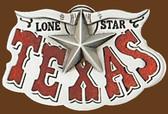 Texas Lone Star Belt Buckle,