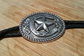 Silver Texas Star and Horseshoe Bolo tie