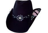 THE ROSE Cowboy Hat BLACK
