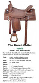 THE RANCH CUTTER TOOLED DESIGN WESTERN SADDLE