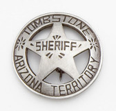 TOMBSTONE BADGE WE CARRY OLD WEST BADGES
