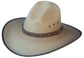 Tight Weave Oak Stain Palm Western Cowboy Hat