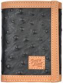 Tony Lama Black Western Trifold Wallet 63358