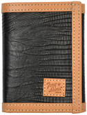 Tony Lama Black Western Trifold Wallet 63365