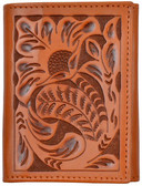 Tony Lama Natural Western Trifold Wallet