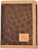 Tony Lama Cognac Western Trifold Wallet