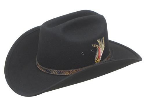 Trail Boss 100% Wool Felt Cowboy Hats. Image 1. Loading zoom 49dc0364288