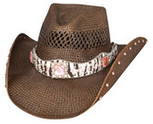 TURN ME ON Straw Cowboy Hat by Bullhide® Hats.