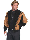 Two Toned Cafe Suede Rodeo Jacket By Scully Leather