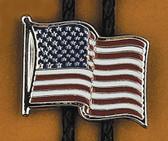 USA Flag Bolo Tie