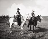 Two Coyboys on Horseback Old West Photograph 8x10