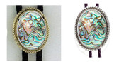 Abalone Shell Rope Bolo Tie